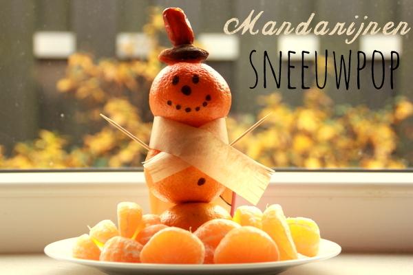 HEALTHY CHRISTMAS | Mandarijnen sneeuwpop