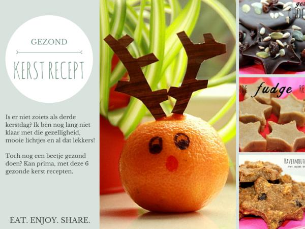 KERST RECEPT | 6 super gezonde snacks