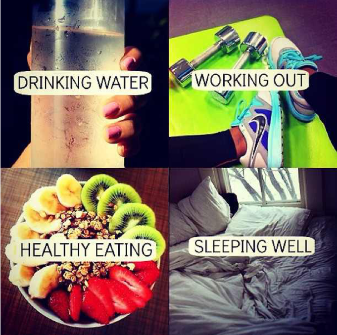 Eat, sleep, drink, workout